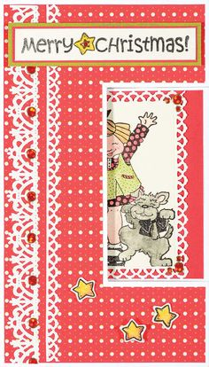 Janie's Christmas Kids Stamp Set by Hot Off The Press Inc (4101159)