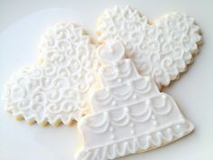 Items similar to Bridal Shower Cookies Wedding Favor Heart Cookies Wedding Cake Favors on Etsy Wedding Dress Cookies, Wedding Shower Cookies, Cookie Wedding Favors, Cookie Favors, Wedding Desserts, Cake Wedding, Heart Cookies, Cut Out Cookies, Rose Cookies