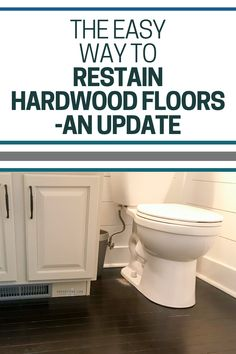 Restaining hardwood floors has never been easier with gel stain. Requiring minimal sanding, gel stain goes on thick and provides excellent coverage. An update on how they've held up 4 years later Staining Wood Floors, Painted Wood Floors, Hardwood Floors, Build A Headboard, Java Gel Stains, Stain Techniques, Oil Based Stain, Apartment Renovation, Interior Design Tips
