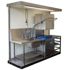 58 Ideas Kitchen Layout Commercial Restaurant For 2019 Diy Kitchen Shelves, New Kitchen Cabinets, Kitchen Units, Kitchen Layout, Kitchen Sink, Mini Kitchen, Summer Kitchen, Kitchen Organization, Commercial Kitchen Design