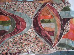 hand-painted silk