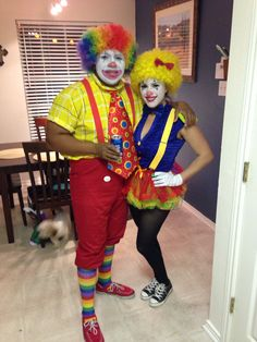 clown couples costume ) Halloween 2014!  sc 1 st  Pinterest & Creepy Clown Couple - Halloween Costume Contest at Costume-Works.com ...