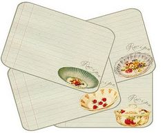 Recipe card downloads.