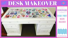 Desk Makeover (Using Homemade Chalk Paint)