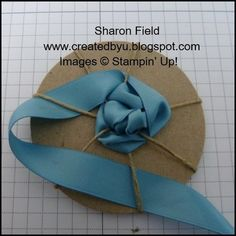 rosette - no glues or sticky papers!!
