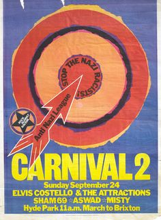 ANL/RAR Carnival 2 poster, with Aswad and Misty. 1978.