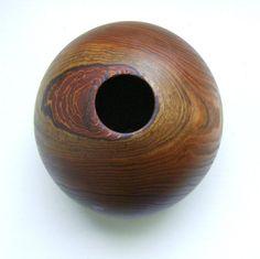 Hand Turned Wood Vase