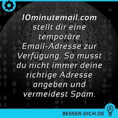 10minutemail.com stellt dir eine temporäre E-Mail Adresse zur Verfügung.