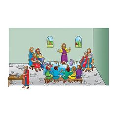 Play figurines / storytelling visuals: Beginners Bible The Last Supper Flannelboard Figures - Pre-Cut
