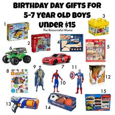 Birthday Gift Guide For 5 7 Year Old Boys All Under 15 Christmas Presents
