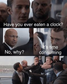 "Captain America's Got Dad Jokes For Days In This New Meme Captain America's Got Dad Jokes For Days In This New Meme - Funny memes that ""GET IT"" and want you to too. Get the latest funniest memes and keep up what is going on in the meme-o-sphere. Avengers Humor, Marvel Jokes, Funny Marvel Memes, Funny Shit, Stupid Funny Memes, Funny Relatable Memes, Fuuny Memes, Very Funny Jokes, 9gag Funny"