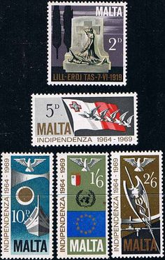 Malta 1969 Independence Set Fine Mint SG 422 6 Scott 404 8 Other European and British Commonwealth Stamps HERE!