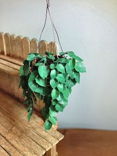 Dale Fluty - Dollhouse Designs: Hanging Dollhouse Plant....and inner reflections