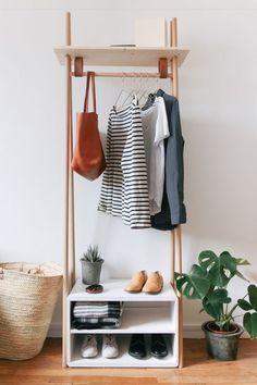 DIY : fabriquer un meuble penderie design pour l'entrée - Floriane Lemarié