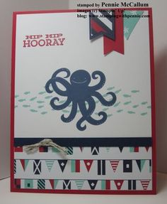 """Sea Street"" is such a great stamp set to use with the ""Nautical"" Designer Series Paper from Stampin' Up! by Pennie McCallum"