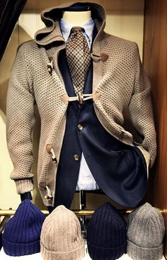 mypantalones:  A pretty incredible outerwear pairing from Rose & Born. A short, hooded, unstructured duffle coat is definitely something that I haven't seen much of.
