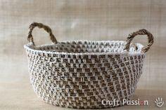 Rope Crochet Basket Free Pattern