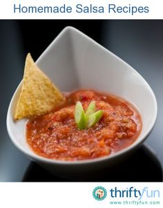 This page contains recipes for making homemade salsa. Making salsa is a great way to use up your garden's tomato harvest. Homemade salsa also has a freshness you can't get from the grocery store.