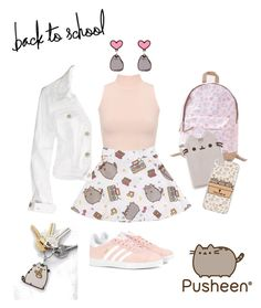 """""""#PVxPusheen"""" by itsbrisbane ❤ liked on Polyvore featuring WearAll, Pusheen, American Eagle Outfitters, adidas Originals, contestentry and PVxPusheen"""