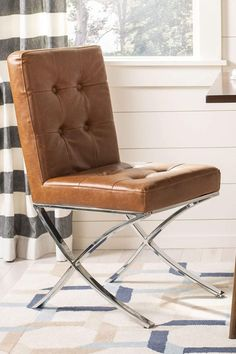 Accent Chairs For Living Room, Barcelona Chair, Home Office Furniture, Lounge, Leather, Home Decor, Airport Lounge, Drawing Rooms, Decoration Home