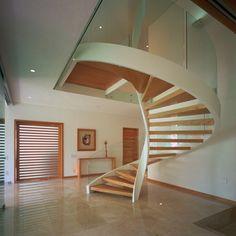 arquitectos casa escaleras modernas barandillas vistas madera comprar interiores