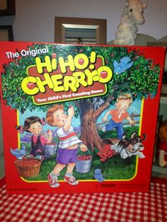 Classic Milton Bradley. Children's Board Game, Hi Ho Cherry Oh