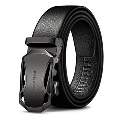 Automatic Buckle Black Genuine Leather Belt Men's Belts Cow Leather Belts for Men Rugged Style, Fashion Models, Fashion Brand, Fashion Men, Fashion Guide, Mens Belts Fashion, Fashion Blogs, Cheap Fashion, White Fashion