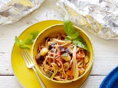 Healthy Grilled Summer Vegetable Spaghetti Foil Pack recipe from Food Network Kitchen via Food Network