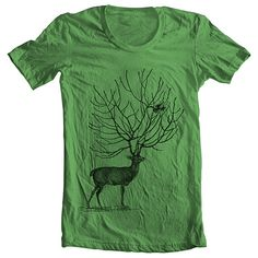 Men's T Shirt Deer American Apparel XS S M by FullSpectrumApparel, $22.00