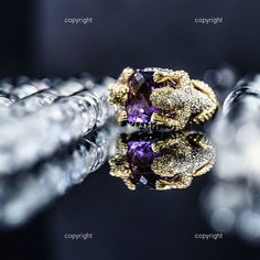 One of our latest Product Photographs. More on www.reanart.com @aarachminov_diamonds @diamonds_london @diamondsinthelibrary  #photography #productphotography #ring #campaign #portfolio #advertising #creative #studio #macro #purple #visuals #potd #instadaily #fashion #jewellery #diamond #design #accessories #reflection #igersoftheday #gold #panther #fashiondesigner #diamonds
