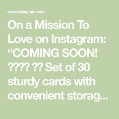"""On a Mission To Love on Instagram: """"COMING SOON! 💜💛❤️ ⭐️ Set of 30 sturdy cards with convenient storage box ⭐️ Booklet on how to use the cards and pray the rosary ⭐️…"""""""