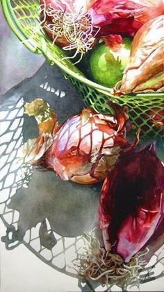 ''Cipolle Italiane'' Watercolor by Robin Erickson
