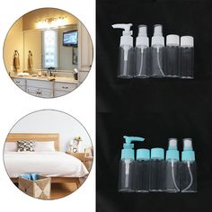 Style: Spray Bottle, Pump Bottle, Regular Bottle. Product Name: 5 Pcs Bottle Set. Ideal for lotion, perfume, dispensing lotion, Shower gel, shampoo, lotion and other liquids. Duckbill bottle with anti-pressure snap to prevent accidentally pressing cause the emulsion outflow. | eBay!