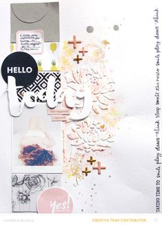 Hello today scrapbooking layout