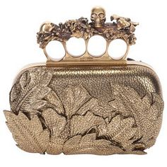 Alexander McQueen ring clutch- I'll always know where my lip gloss is!
