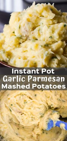 Instant Pot Garlic Parmesan Mashed Potatoes are creamy mashed potatoes loaded with garlic, fresh chives and grated Parmesan cheese. Instant Pot Garlic Parmesan Mashed Potatoes are creamy mashed potatoes loaded with garlic, fresh chive Instapot Mashed Potatoes, Basic Mashed Potatoes, Cream Cheese Mashed Potatoes, Creamy Garlic Mashed Potatoes, Garlic Parmesan Potatoes, Mashed Potato Recipes, Instant Pot Mashed Potatoes Recipe, Tilapia, Tostadas