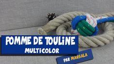Pomme de touline multicolor ( monkey fist, poing de singe ) #noeud de le...