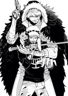 Trafalgar D. Water Law and Donquixote Rocinante  (Corazon), (Corasan, Cora-san) One piece