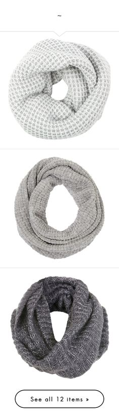 """""""~"""" by emilypondng ❤ liked on Polyvore featuring accessories, scarves, fillers, metallic scarves, sparkly scarves, snood scarves, metallic shawl, woven scarves, écharpe and grey"""