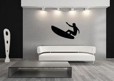 Surfer Style A Vinyl Wall Decal #Surfing #BeachDecor #WallDecor #WallDecals #ocean #SurfsUp