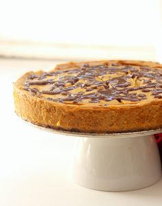 It's pumpkin time. Get excited. In the midst of pumpkin palooza, it's safe to say this cheesecake is the holy grail. It's 75 calories a slice, easy to make, and I can't even…