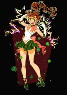 Sailor Jupiter by cottonwings Sailor Moon Jupiter, Sailor Moon Girls, Sailor Moon Art, Sailor Mars, Sailor Moon Aesthetic, Mermaid Melody, Sailor Scouts, Anime, Magical Girl
