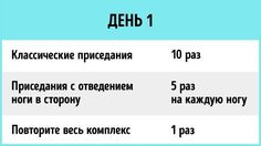 12упражнений, чтобы подтянуть попу иноги за1неделю