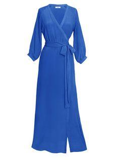 Lenny Wrap- Blue  Modern, Bohemian, Gypset, Glam, Resortwear, Luxurious, Travel   rhoderesort.com