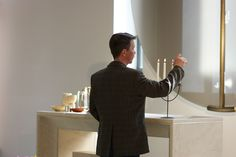 Lighting up the candle, Lutheran church in Poznan, Poland