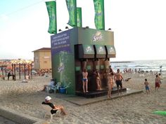 Talk about creative beach advertising by Sprite - especially during the summer season.