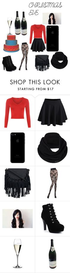 """""""Christmas Eve Outfit"""" by janesmith-30125 ❤ liked on Polyvore featuring WearAll, WithChic, prAna, Pierre Mantoux and Riedel"""