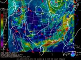 Loop of view current surface analysis with satellite imagery.  Hydrometeorological Prediction Center NOAA