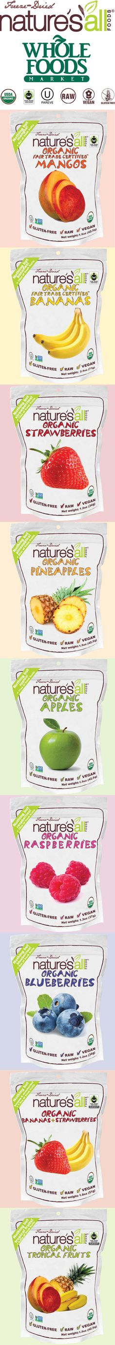 Organic and Fair-trade freeze-dried fruits