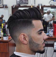Boys haircut, long on top